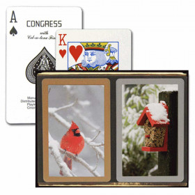 Congress Red Cardinal Bridge Playing Cards - Standard Index