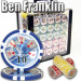 Ben Franklin 14 Gram 1000pc Poker Chip Set wAcrylic Case