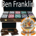 Ben Franklin 14 Gram 500pc Poker Chip Set w/Walnut Case