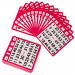 100 Pack of Red Bingo Cards