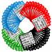 100 Pack of Bingo Cards, Multi Color
