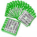 100 Pack of Green Bingo Cards