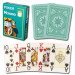 Modiano Cristallo Green Plastic Playing Cards