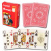 Modiano Cristallo Red Plastic Playing Cards