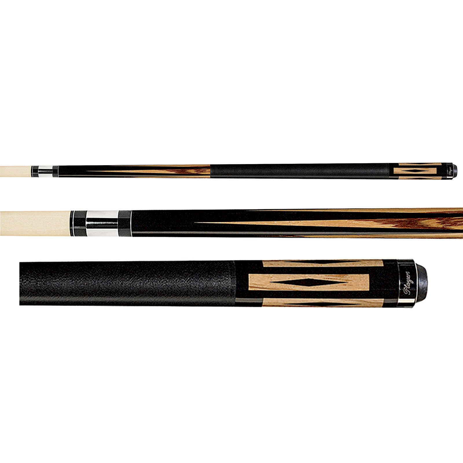 Players Exotic Design Series E-5100 Sneaky Pete Two-Piece Pool Cue Style 21 oz Cue and Case