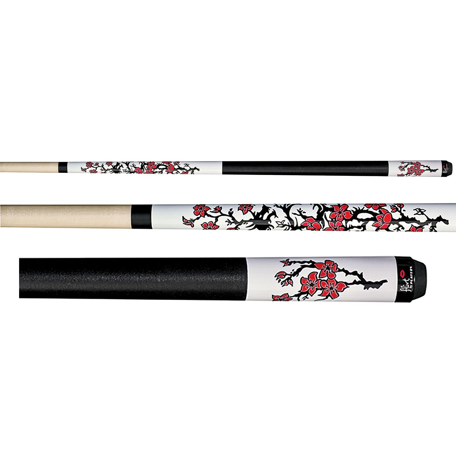 Players F 2630 Flirt Dragon Blossoms Pool Cue Stick