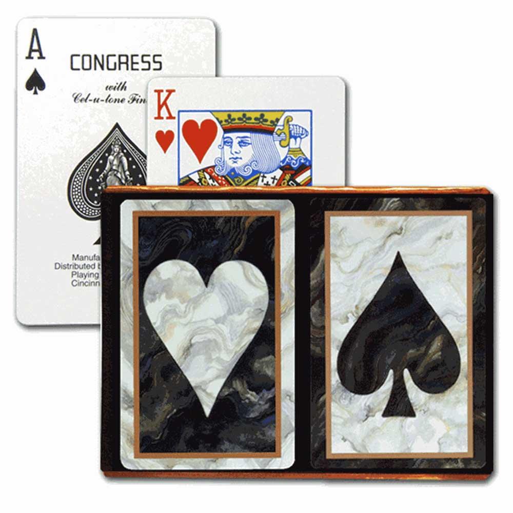 Congress Black Heart & Spade Bridge Playing Cards - Standard Index