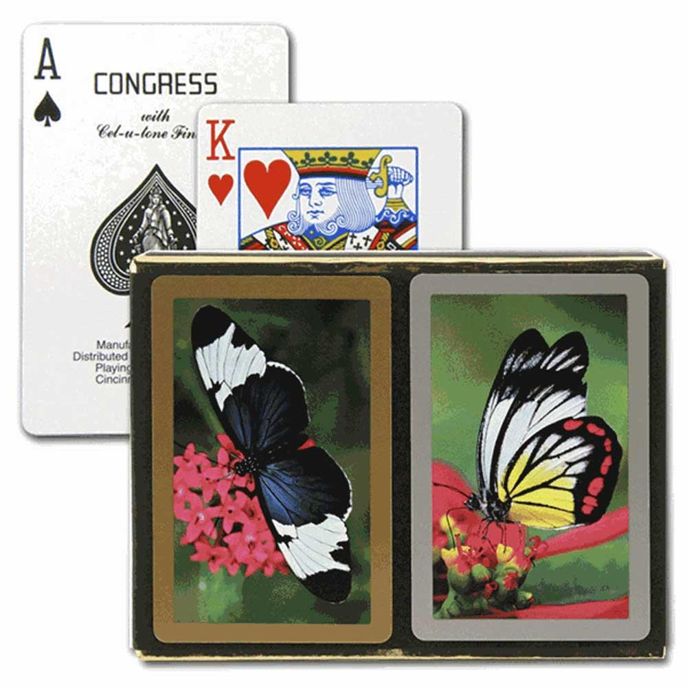 Congress Butterflies Bridge Playing Cards - Standard Index
