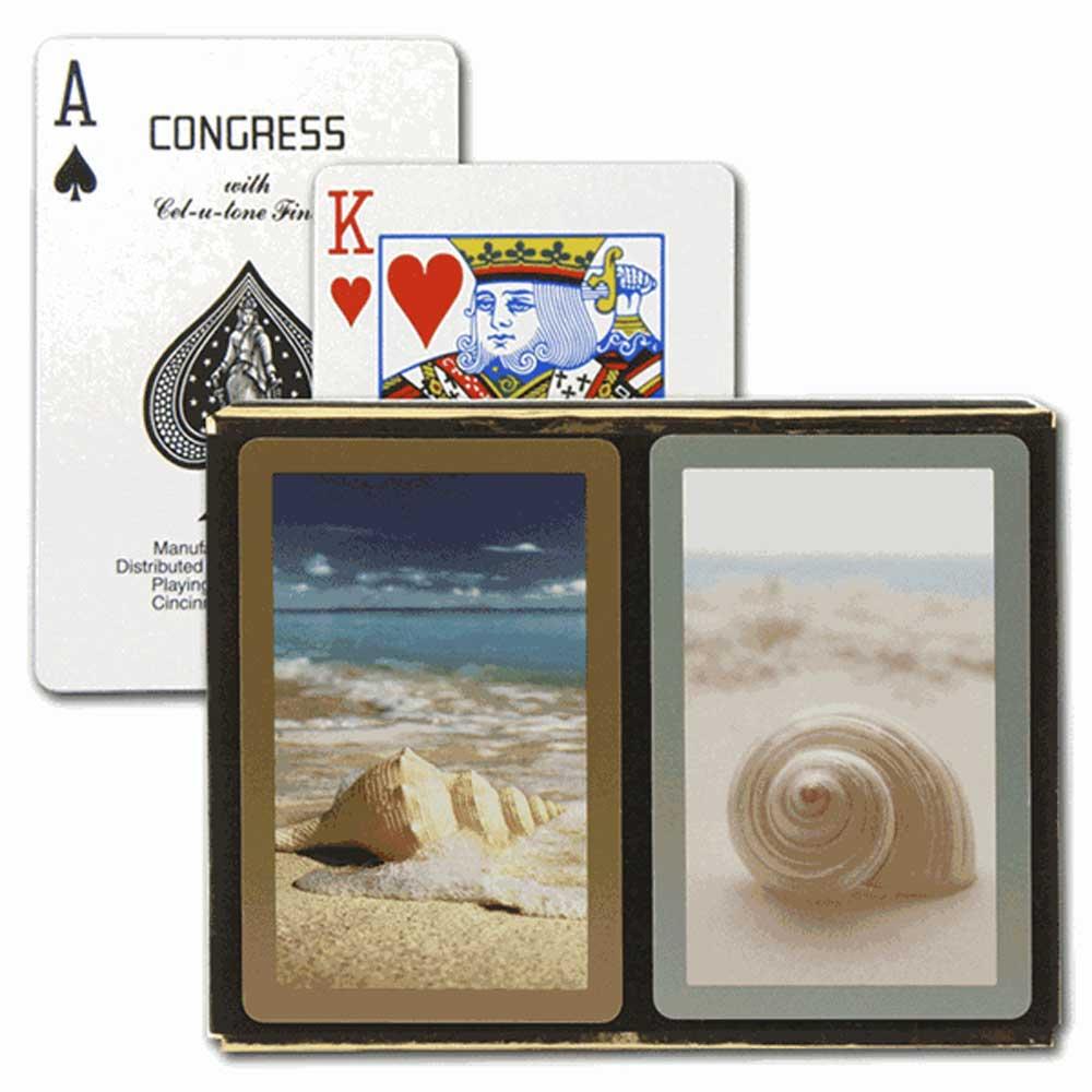 Congress Seashells Bridge Playing Cards - Standard Index